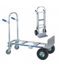 "Wesco Cobra Jr 16"" Extruded Nose 560-1200 lb Load Aluminum Convertible Hand Trucks"