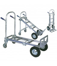 "Wesco CBR-3-PWT Cobra 3-Position 500/650 lb Load 12"" x 38"" Bed Convertible Hand Truck"