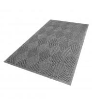 WaterHog Diamond 221 Rubber Back Polypropylene Indoor/Outdoor Scraper Floor Mats (Shown in Grey)