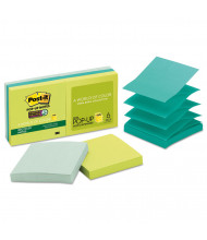 "Post-It 3"" X 3"", 6 90-Sheet Pads, Bora Bora Pop-Up Notes"