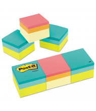 "Post-It 2"" X 2"", 3 400-Sheet Pads, Green Wave Mini Cubes"