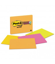 "Post-It 8"" X 6"", 4 45-Sheet Pads, Lined Rio de Janeiro Color Super Sticky Meeting Notes"