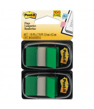 "Post-It 1"" x 1-3/4"" Marking Flags, Green, 100 Flags/Pack"