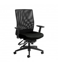 Global Weev 2221-3 Mesh and Fabric Mid-Back Office Chair. Shown in Black.