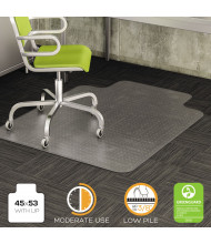"deflect-o DuraMat Low Pile Carpet 45"" W x 53"" L with Lip, Beveled Edge Chair Mat CM13233"