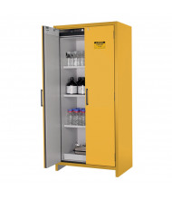 """Just-Rite EN 22605 90-Minute Fire 35"""" W Hybrid Two Door Flammable Safety Cabinet, 30 Gallons, Yellow"""