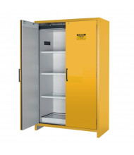 "Just-Rite EN 22607 90-Minute Fire 47"" W Hybrid Two Door Flammable Safety Cabinet, 45 Gallons, Yellow"