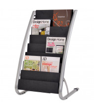 "Alba 36"" H 8-Compartment Literature Floor Display Rack"