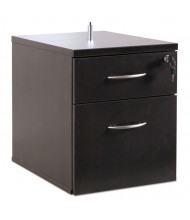 Alera SedinaAG 2-Drawer Box/File Suspended Pedestal, Espresso