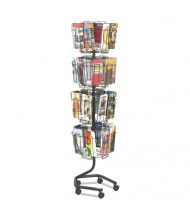 "Safco 60"" H 32-Compartment Wire Brochure Display Rack"