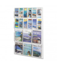 "Safco Reveal 45"" H 18-Compartment Clear Literature Display"