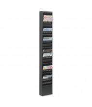 "Safco 66"" H 23-Pocket Steel Magazine Rack, Black"