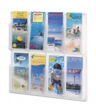 """Safco Reveal 21"""" H 8-Compartment Clear Literature Display"""