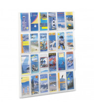"Safco Reveal 41"" H 24-Compartment Clear Literature Display"