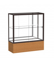 "Waddell Reliant 2281 Series Counter Display Case 36""W x 40""H x 14""D (mirror back/dark bronze finish/carmel oak veneer)"