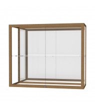 """Waddell Champion 2282 Series Wall Display Case 36""""W x 30""""H x 14""""D (Shown in mirror back/champagne gold)"""