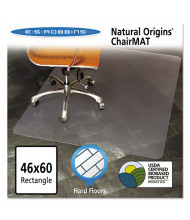 "ES Robbins Hard Floor 46"" W x 60"" L, Straight Edge Chair Mat 143022"