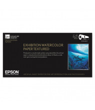 "Epson Exhibition 17"" X 50 Ft., 22 mil, Textured Matte Watercolor Paper Roll"