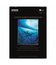 "Epson Exhibition 13"" x 19"", 22 mil, 25-Sheets, Matte Watercolor Paper"