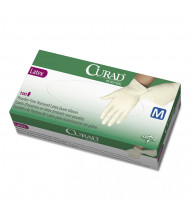 Curad Medium Powder-Free Latex Exam Gloves, White, 100/Box