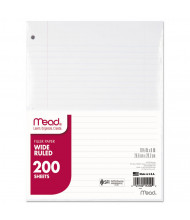 "Mead 8"" x 10-1/2"", 200-Sheets, Wide Rule Economical Filler Paper"