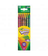 Crayola Twistables Erasable 2 mm Assorted Colors Woodcase Pencils, 12-Pack