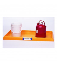 """Ultratech 2351 54"""" W x 29.75"""" L Containment Tray without Grating, 16.5 Gallons, Yellow"""