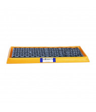 "Ultratech 2352 54"" W x 29.75"" L Containment Tray with Grating, 14 Gallons, Yellow"