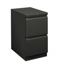 HON Brigade 33823RS 2-Drawer File/File Radius Pull Mobile Pedestal, Charcoal