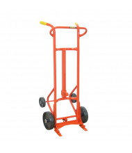 Wesco 15BTW Deluxe 1000 lb Load Four-wheel Steel Drum Hand Truck, Polyolefin wheels
