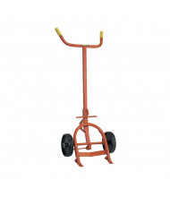 Wesco 10BTW Standard 1000 lb Load Steel Drum Hand Truck with Steel Load wheels, Polyolefin wheels