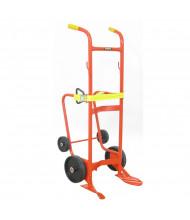 Wesco 50BTW 1000 lb Load 4-Wheel Drain Stand Drum Hand Truck, Polyolefin Rubber wheels
