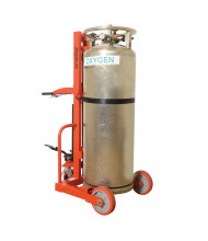 "Wesco HLCC-B 1000 lb Load Hydraulic 20"" Dia. Cylinder Hand Truck with Brake (Cylinder Is Not Included)"
