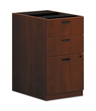 Basyx Laminate 3-Drawer Box/Box/File Pedestal, Medium Cherry