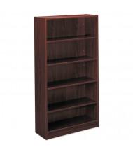 Basyx BL2194NN 5-Shelf Laminate Bookcase in Mahogany Finish