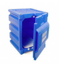 Justrite 24080 Countertop Corrosive & Acid Chemical Storage Cabinet, Two 4 Liter Bottles, Blue