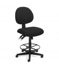 OFM 241-DK 24/7 24-Hour Fabric Drafting Chair, Footring (Shown in Black)