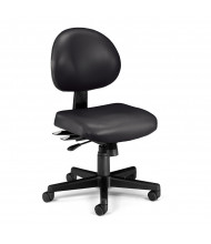 OFM 241-VAM 24/7 24-Hour Anti-Microbial Vinyl Mid-Back Task Chair (black)