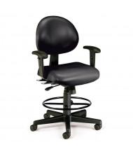 OFM 241-VAM-AADK 24/7 24-Hour Anti-Microbial Vinyl Drafting Chair (Shown in Black)