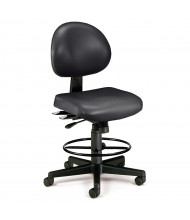 OFM 241-VAM-DK 24/7 24-Hour Anti-Microbial Vinyl Drafting Chair (Shown in Black)