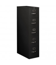 "HON 215PP 5-Drawer 28.5"" Deep Vertical File Cabinet, Letter Size, Black"