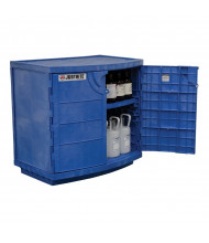 Just-Rite Corrosives Acids Polyethylene Safety Cabinet, Thirty-Six 2-1/2 Liter Bottles, Blue