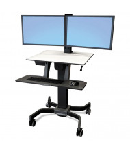 Ergotron WorkFit-C 24214085 Sit-Stand Dual Monitor Workstation, Black