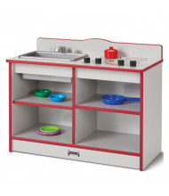 Jonti-Craft Rainbow Accents Toddler Kitchenette Dramatic Play Set (Shown in Red, accessories not included)