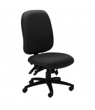 Mayline 24-Hour 2424AG 300 lb. Fabric Mid-Back High-Performance Executive Office Chair (Shown in Black)