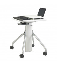 "RightAngle Arriba 24"" L x 24"" W Laminate Top Gas Lift Adjustable Table with Mouse/Palm Support, Lock Laptop Mount"