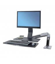 Ergotron WorkFit-A 24314026 Sit-Stand Workstation with Worksurface+, Black