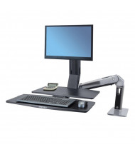 Ergotron WorkFit-A 24317026 Sit-Stand Workstation with Worksurface+, Black