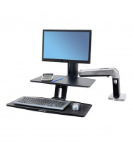 Ergotron WorkFit-A 24391026 Sit-Stand Workstation with Suspended Keyboard, Black