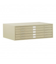"Sandusky 5-Drawer Flat File Cabinet for 36"" x 24"" Sheets (Shown in Putty)"